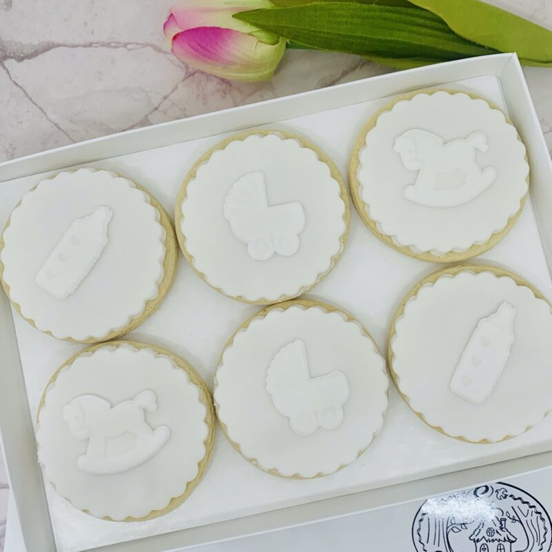 Baby Shower Biscuits from Enchanting Bakes