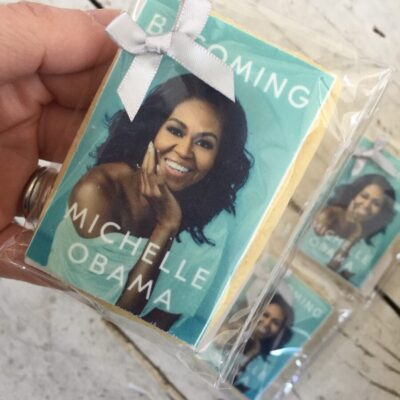 Becoming Michelle Obama / Penguin - Product Launch Custom Printing on Biscuits