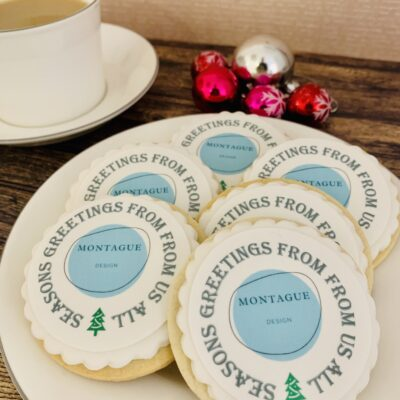edibly printed logo christmas biscuit gift box