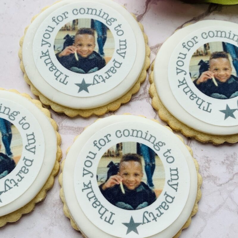 edible photo party biscuits