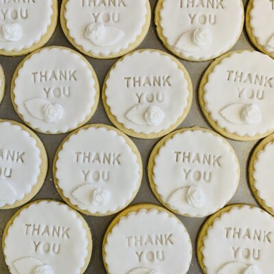 handmade thank you biscuits